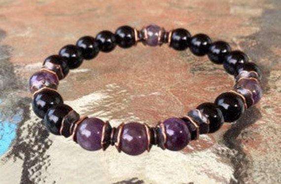 healing stone mens jewelry mens bracelet grandpa birthday gift for men gift for women gift for dad gift for uncle gift for boyfriend for him
