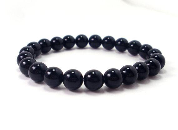 black onyx bracelet mens bracelet man bracelet reiki healing crystals and stones mala bracelet man bracelet, reiki healing, healing crystals