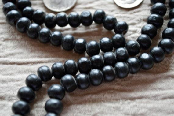 Tulsi Holy Basil Black Mala Necklace - Buddhist Prayer Japa Karma 108 Bead - Nirvana Meditation Rosary Awakening Chakra Kundalini