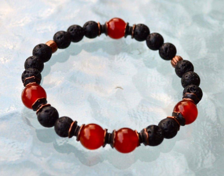 Energy Bracelet Root Chakra Bracelet Mala Bracelet Bracelet Meditation Bracelet Healing Crystal Bracelet 8 mm Red Carnelian Bracelet