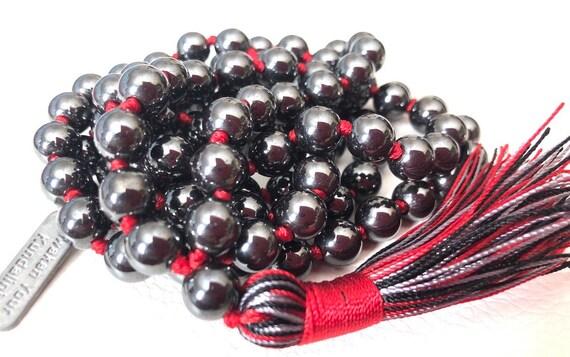 hematite mala beads bracelet necklace magnetic fashion jewelry men accessories men bracelet bracelet yoga gift men gift for son gift for him