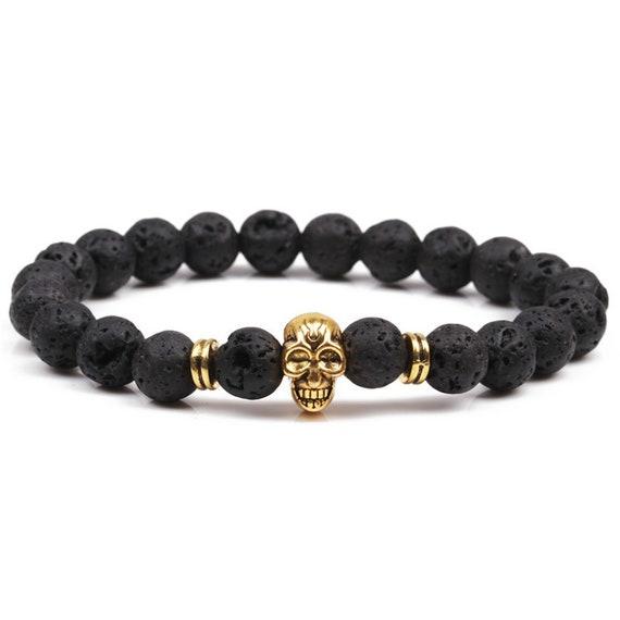 Anxiety Bracelet | Diffuser Bracelet | Basalt Lava Rock Bracelet | Essential Oil Bracelet | Anxiety Relief | Gemstone Bracelet | Bead Stone