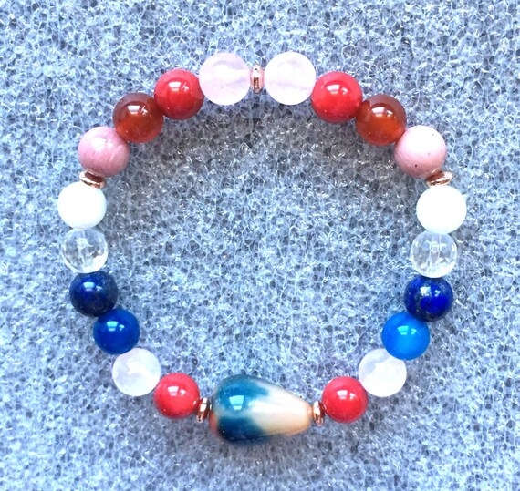 Custom zodiac Taurus bracelet Coral jewelry Taurus birthstones crystal set natural crystals healing crystals gift complimentary self help