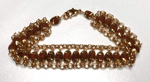 Energized Natural Rudraksha Mala beads bracelet, Rudraksha,  Wrist bracelet, Mala Beads, Healing Bracelet - Blessed & EnergizedChristmas