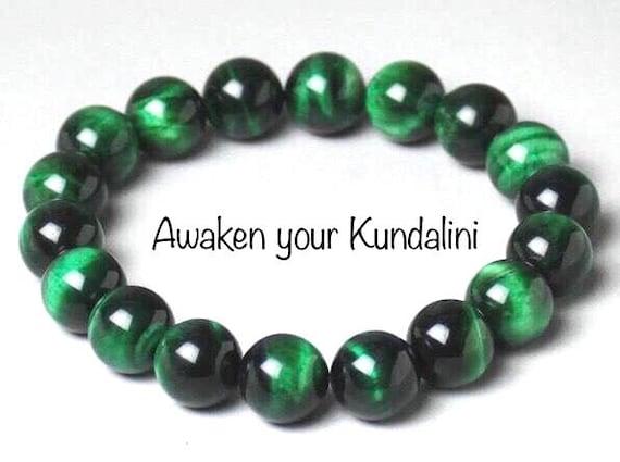 10mm green tiger eye wrist mala bracelet tigers eye AAA grade Hawk's eye beaded bracelet best gifts for men women him her gemstone bracelet
