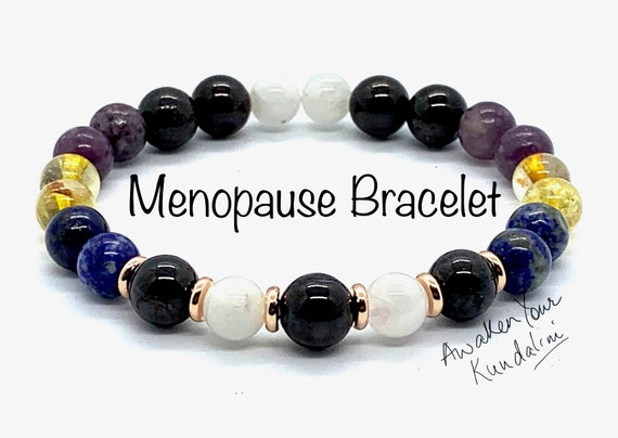 Crystals for Menopause Bracelet Menopausal Crystal healing Hormone Balance hot flashes hot flash relief menstrual cycle menstrual disorder