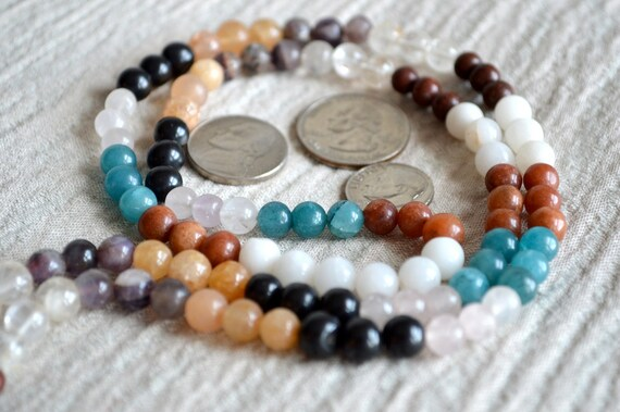 9 Planets Jaap Mala Beads Navrattan Chakra Prayer Beads Mala Necklace - Karma Yoga Nirvana Meditation Awakening Chakra Kundalini Rosary 108