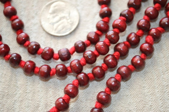 Rosewood mala beads necklace Hand Knotted Red Sandalwood Buddhist Tibetan 108 Prayer Beads For Healing Meditation Mantra Chanting