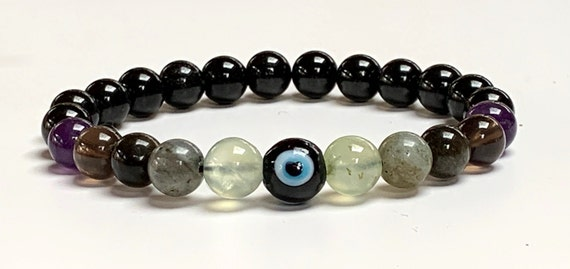 Crystals of Protection Bracelet Empath Protection Evil Eye crystal set protective defense crystal healing crystals complimentary self help