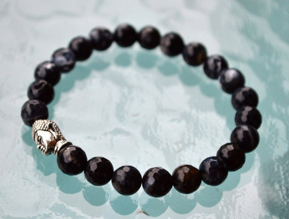 buddha bracelet black onyx bracelet tibetan jewelry meditation yoga gifts for mom gift for sister gift for wife gift for girlfriend gifts he
