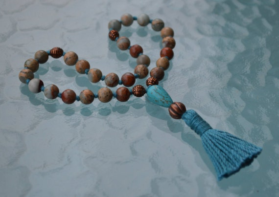 Buddhist Prayer Beads Mala Pocket Aqua Terra Mala for Spirituality Sexual Enhancement Smooth Transition Yin-Yang balance Detoxification