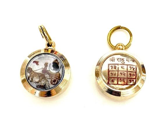 Energized and Blessed Rahu Yantra Amulet Kavach PendantChristmas