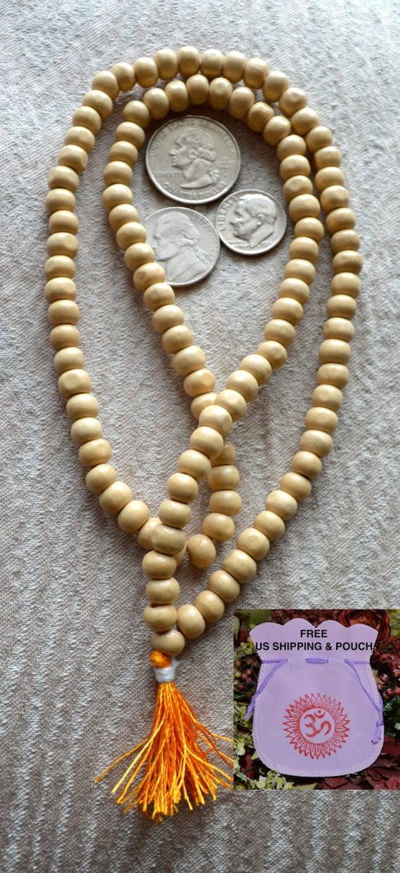 Custom order of 40 malas for Durga Tulsi Holy Basil Prayer Beads Hand Made Japa Mala Necklace - Karma Nirvana Meditation Awakening Cha
