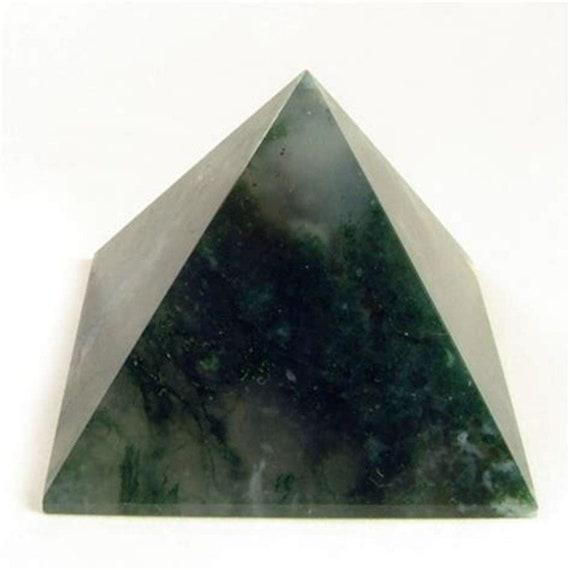 Moss Agate Chakra Pyramid Reiki Healing Crystals and Stones Rose Quartz Labradorite Gemstone Energy Pyramid stones pendulum Reiki Healin
