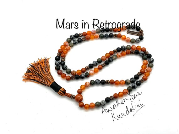 Crystals for Mars in Retrograde Mars Beads Necklace Planetary retrograde natal terraforming Veronica mars planet necklace healing crystals