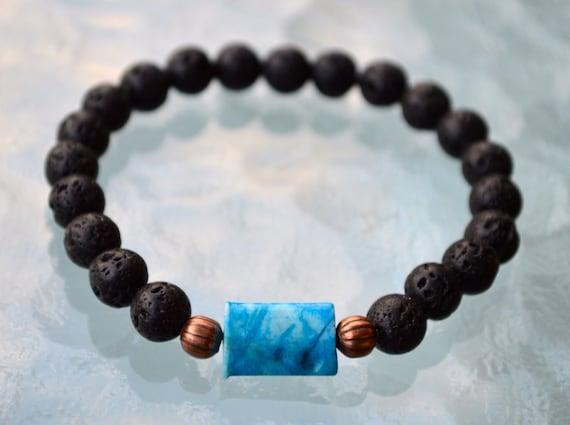 crazy blue lace agate bracelet gemstone bracelet beaded bracelet healing bracelet adjustable bracelet for men friendship bracelet chakra