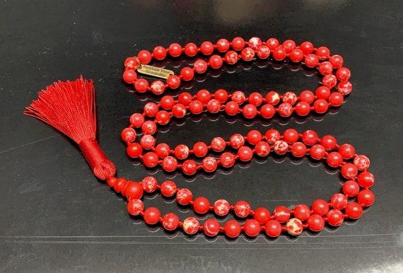 8mm Red Sea Sediment Rock Bracelet Necklace, Christmas bracelet Necklace