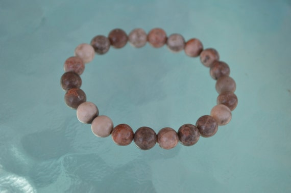 Picture Jasper 8 mm Mala Beads Bracelet Quit Smoking, Clear toxins, Stimulates Immune system, alleviate fear, connecting to earth