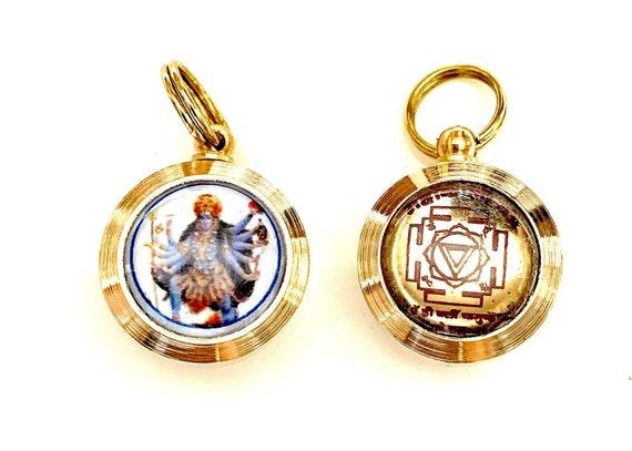 Energized Ashtadhatu Shri Maha Kaali Yantra Yantram Amulet Activated Siddh Wealth Prosperity Maha Kaali, Maa Kali Yantra, Christmas gifts