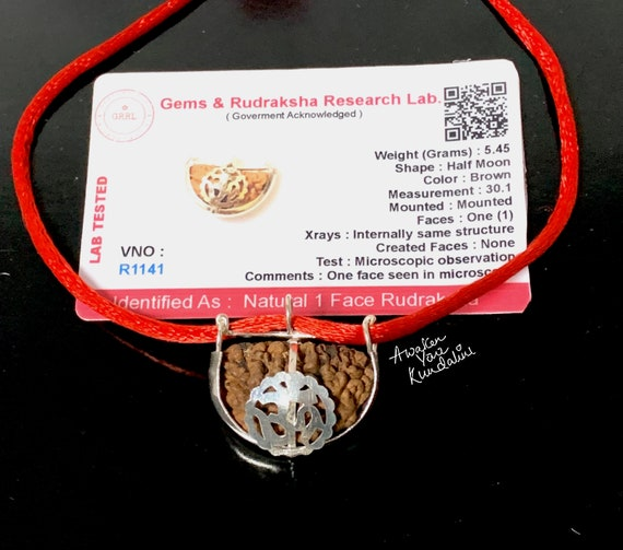 1 Mukhi Rudraksha One Face 1 Rudraksh bead Nepal Lab Certified Kaju Daana one of a kind Rudraksha Necklace Mala Om Meditation Yoga jewelry