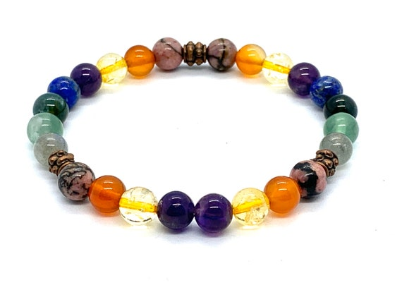 Immune System Support Healing Crystals for Immunity Support Crystal Healing Necklace Immune System booster Protection wrist mala beads