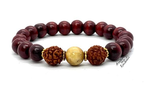 rosewood chakra mala bracelet, japa mala, wood mala, yoga mala, buddhist mala,Buddha bracelet, om mala, spiritual mala, meditation beads