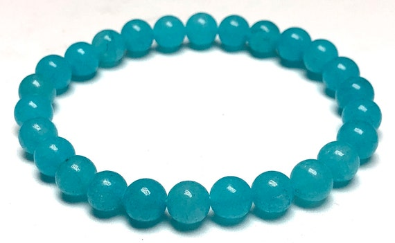 AAA Grade Aquamarine bracelet March birthstone jewelry Throat Chakra stone Birthday gifts for mom gifts for wife gift for sister grandma