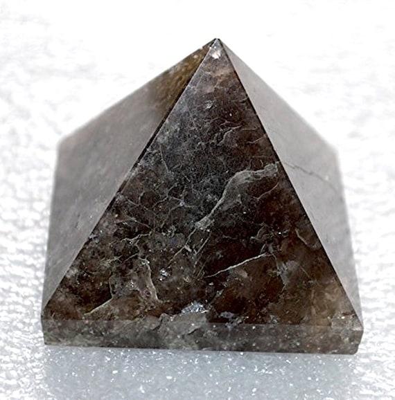 "Energized and Charged Garnet Pyramid, Natural Garnet  Pyramid, Size Approx. 1.5-2"" - Crystal Obelisk Pyramid, Awaken your Kundalini"