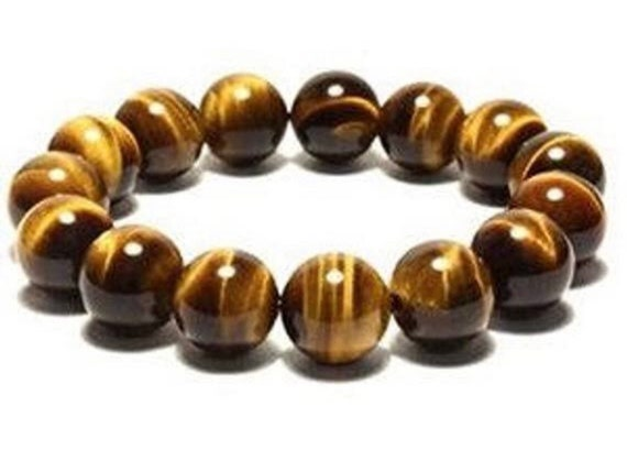 Tiger Eye Wrist Mala Beads Healing Bracelet Energized & Natural Gemstone 10 mm AAA Grade Tigers Eye Crystal Worry Beads Karma Nirvana Yoga