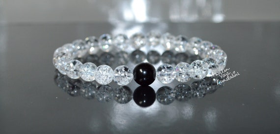 Crackled Quartz Healing Crystals bracelet Anxiety Stress Gifts Crystals Rose Gold & Quartz Bracelet Women Kids Protection Bracelet Gemstone