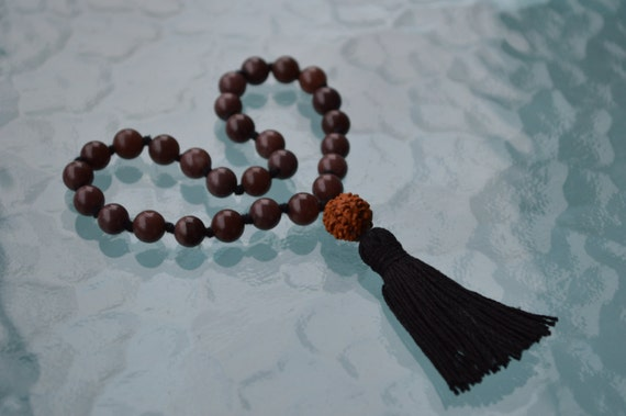 27+1 Garnet Handmade Yoga Quarter Jaap Mala pocket Necklace Friendship Consistency, Success in Business, First Chakra Mala, Cures Depression