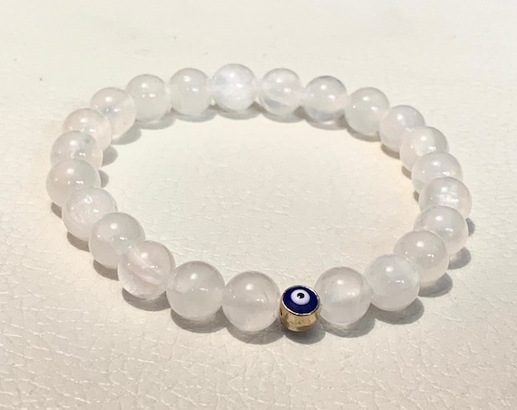 AAA Natural Selenite Bracelet anxiety crystal healing jewelry protection Beaded mala beads meditation Crown Chakra Reiki Yoga Mala for women
