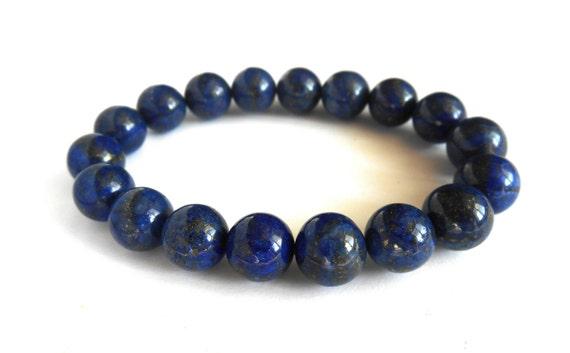 Energized Lapis Lazuli Bracelet Lapis Lazuli Jewelry Blue Lapis Bracelet for Women Men Blue Lapis Jewelry Blue Gemstone Bracelet Blue Stone