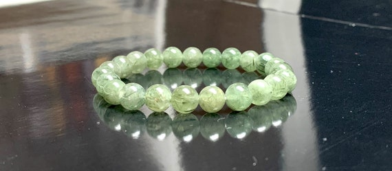 Green Rutilated quartz bracelet, stone bracelet, Master healer purification rejuvenation stone crystal, get well gift, Christmas gift