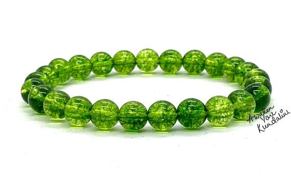 8mm Peridot Bracelet, August Birthstone Bracelet, Men Birthstone Bracelet, Women Birthstone Bracelet, Peridot Jewelry, Gemstone, AAA Grade