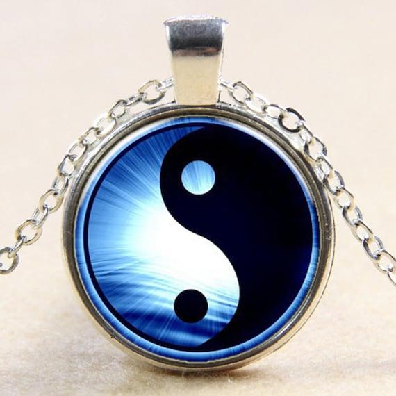 Yin Yang Necklace, Yin Yang Choker, Charm Choker, Charm Necklace, Yin Yang Charm, Choker Necklace, Ying Yang Necklace, Ying Yang Jewelry