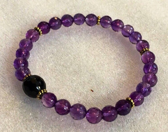 birthday gifts namaste amethyst bracelet yoga jewelry meditation yoga wist mala gifts for mom gift for sister gift for wife gift girlfriend