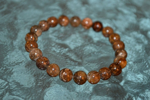 Masculine Energy, Sacral Chakra, Bronzite mala bracelet- Helps Overwhelmed & powerless, Psychic Protection Relationships, Sexuality Inti