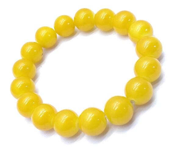 Yellow Jade Bracelet gemstone beaded stretch bracelets wish birthstone boho bracelet mens bracelet jade bracelet bead bracelet yoga bracelet