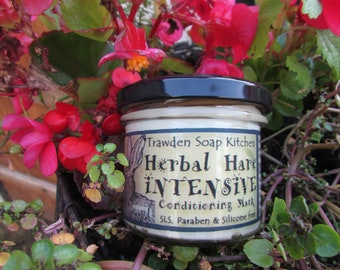 Herbal Hare Intensive Conditioning Mask, Deep Hair Conditioner, shampoo off, hair treatment, avocado oil, enhances condition, body and shine