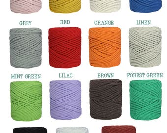 Lightweight 4 mm round rope 100% cotton. Coil of 50 meters. Knitting to crochet or two needles. It weighs. COTTON AIR