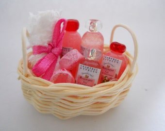 Miniature Rose Water Spa Basket