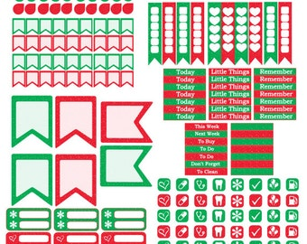 Christams or Snowman Mini Happy Planner Kits