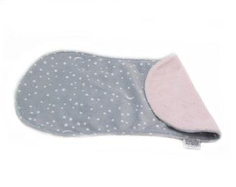 Newborn Gift, Soft Burp Cloth, Diaper Bag Accessory, Pink Contoured Burp Cloth, Modern Burp Cloth, Nursery Item, 2 Sided Minky Burp Cloth