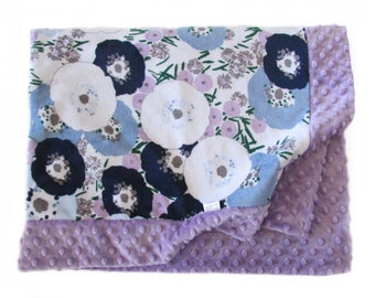 Stroller Blanket, Crib Blanket, Minky Baby Blanket, Baby Shower Gift, Nursery Blanket, Lavender Baby Blanket, Cuddle Blanket