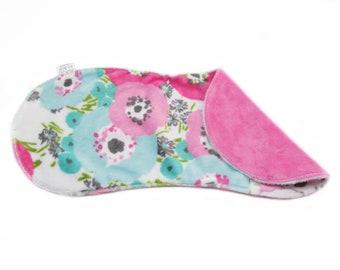 Baby Burp Cloth, Floral Burp Cloth, Minky Burp Cloth, 2 Sided Minky Burp Cloth, Baby Shower Gift, Contoured Burp Cloth, Soft Burp Cloth