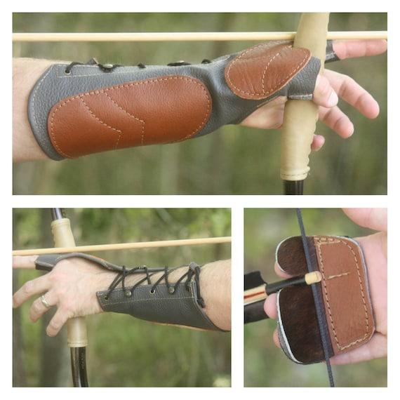 Shooting Arm Guard. Qualit/ät Wildleder Leder Bogenschie/ßen Arm Guard