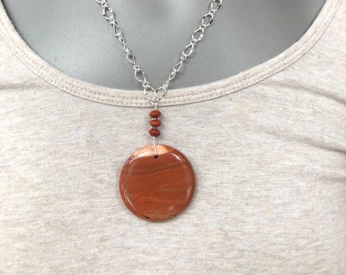 Statement necklace, statement choker, red jasper focal bead statement choker, red jasper focal bead, round red jasper focal bead choker