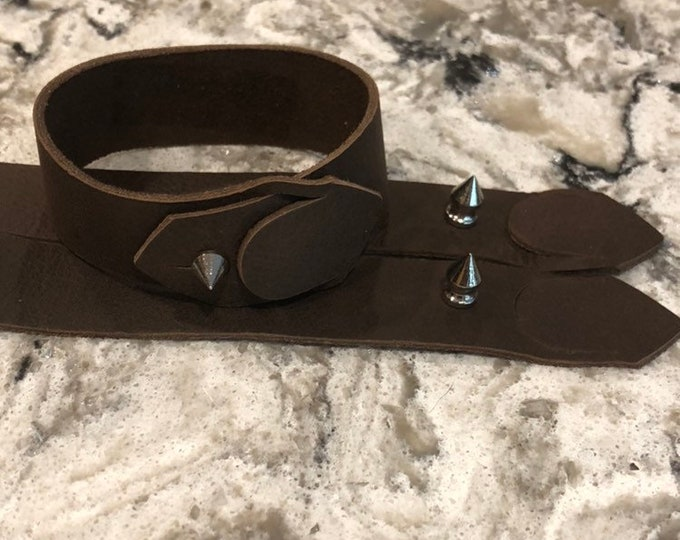 Men's leather cuff bracelet, leather cuff bracelet, dark brown leather bracelet, cuff leather bracelet, men's cuff leather bracelet.