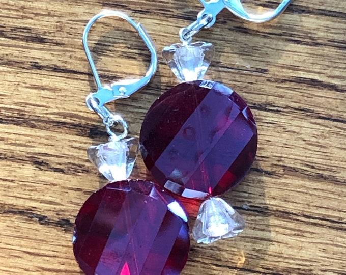 Holiday earrings, Christmas earrings, old fashion candy earrings, candy theme earrings, Christmas theme earrings, candy earrings.